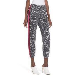 MOTHER The No Zip Misfit Leopard Print Pants
